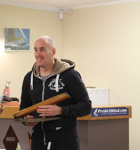 Rob Croft, winner of the capsize trophy with 32 capsizes