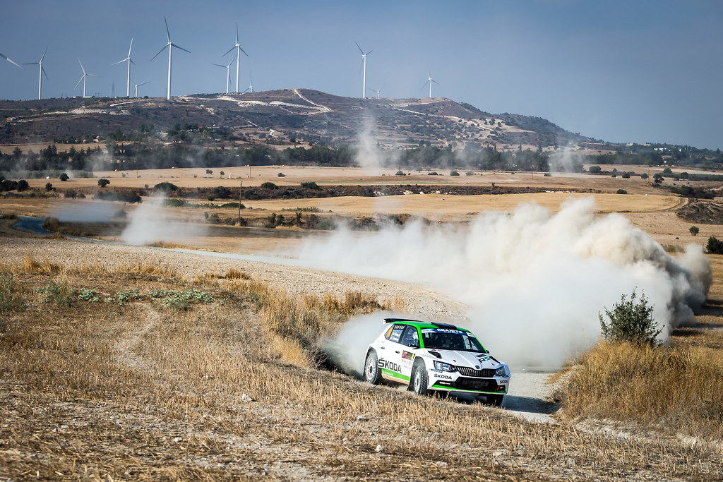 08 NORDGREN Juuso (FIN), SUOMINEN Tapio (FIN), JUUSO NORDGREN, SKODA FABIA R5, action during the 2018 European Rally Championship ERC Cyprus Rally,  from june 15 to 17 at Larnaca, Cyprus - Photo Thomas Fenetre / DPPI