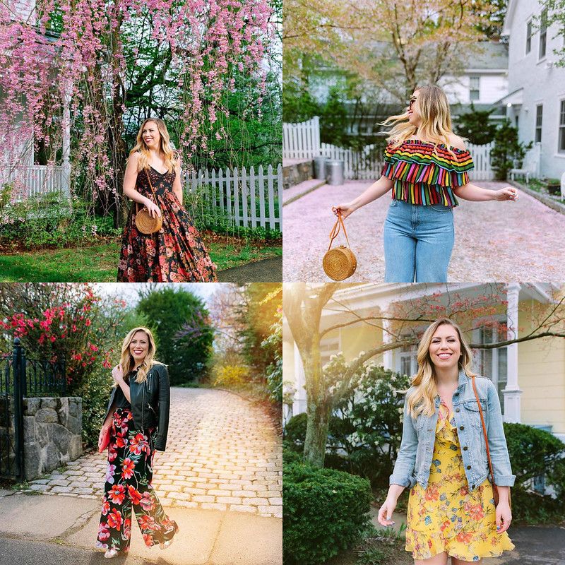 Spring Fashion Outfits Inspiration Florals May 2018 Round Up Living After Midnite Jackie Giardina