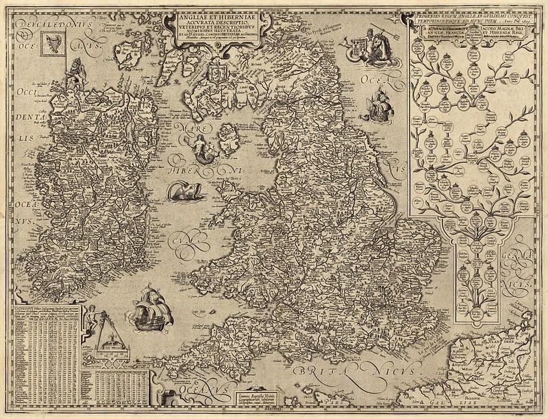 Abraham Ortelius - Angliae Et Hiberniae (1605)