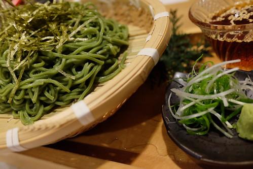 絶品茶そばGreen tea soba noodles