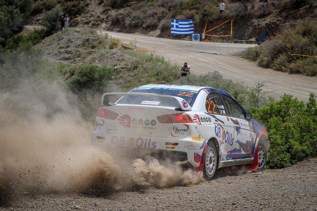22 PANTELI Petros (cyp) Mitsubishi Lancer EVO X, action during the European Rally Championship 2018 - Acropolis Rally Of Grece, June 1 to 3 at Lamia - Photo Alexandre Guillaumot / DPPI