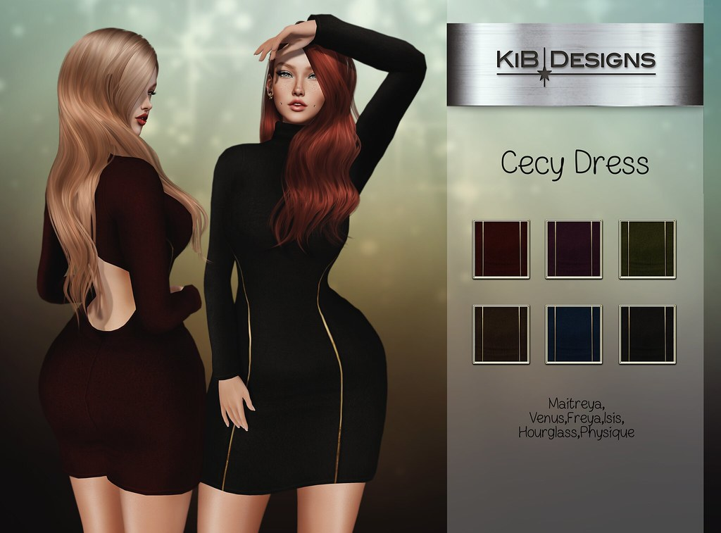 KiB Designs - Cecy Dress @Designer Showcase - TeleportHub.com Live!