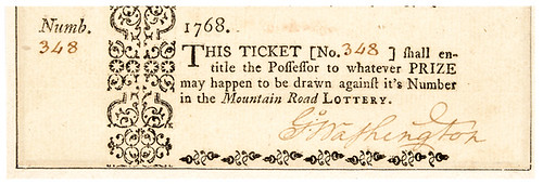 George Washington Signed Mountain Road Lottery Ticket