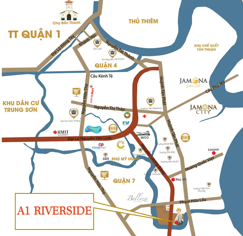 vi tri du an A1 Riverside
