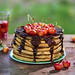 Pancakes with chocolate and cherrys by Food photography / Food styling