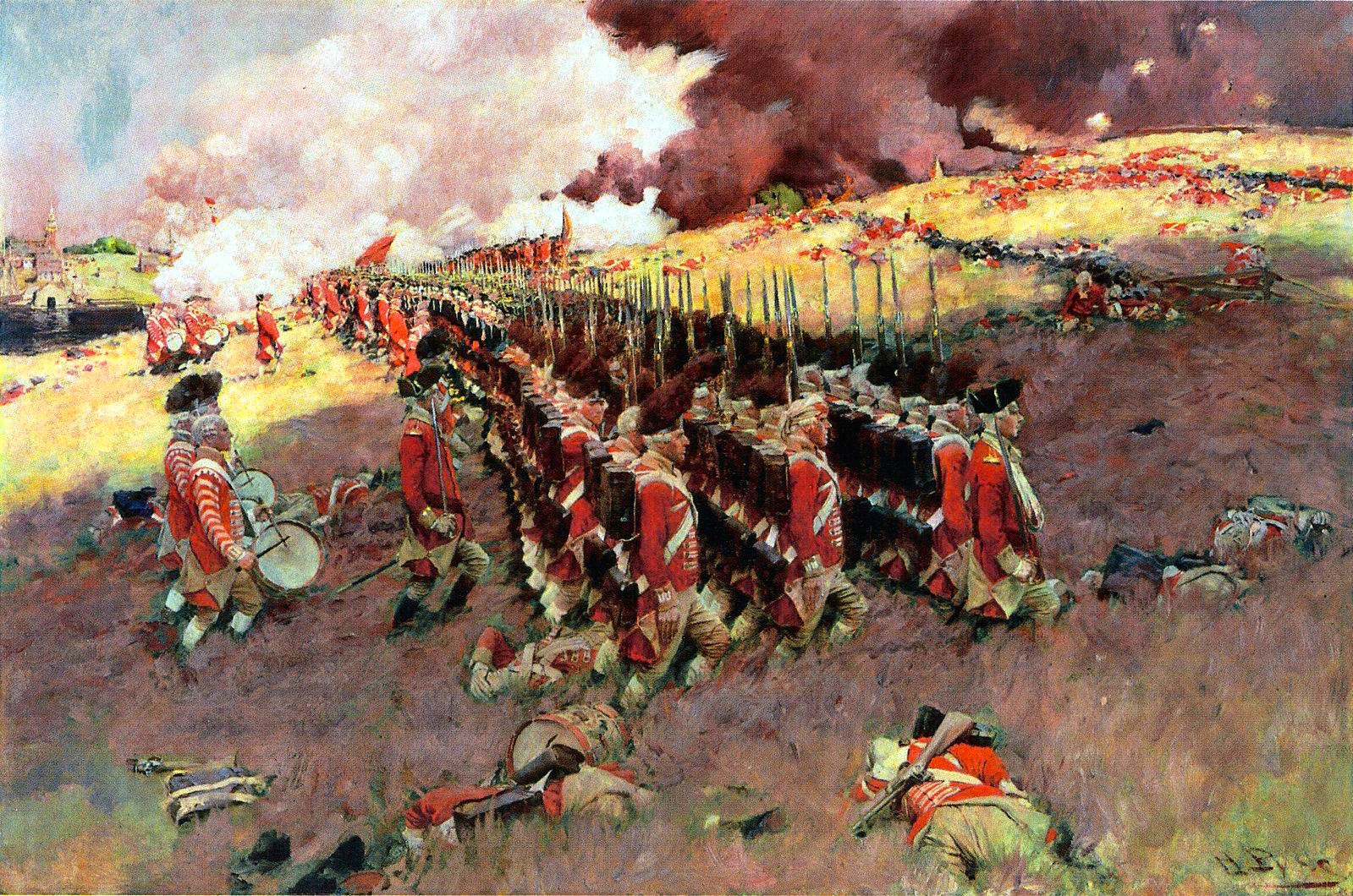 The Battle of Bunker Hill, by Howard Pyle, 1897, published in Scribner's Magazine in February 1898.