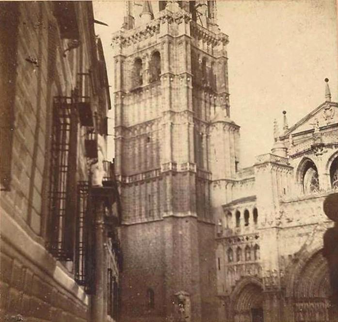 Catedral de Toledo en noviembre de 1863. Fotografía probablemente obra de Auguste Muriel.