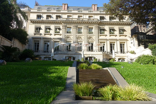 Inside tiered courtyard at Palacio Duhau, Buenos Aires. From History Comes Alive: Eight Noteworthy Places to Stay