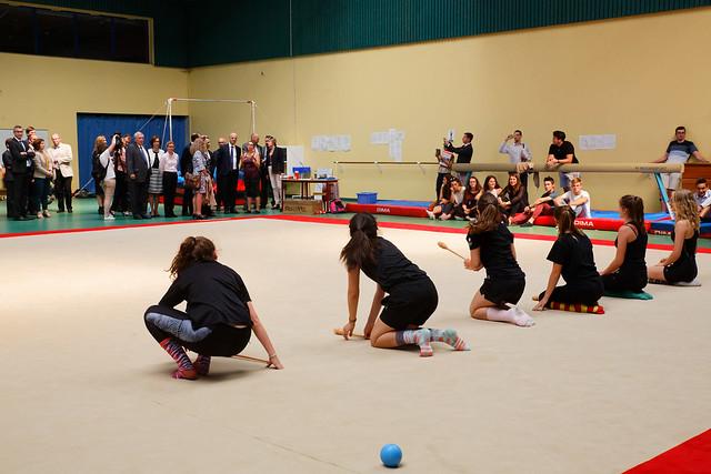 Sport scolaire: visite d'un lycée dans l'académie de Grenoble