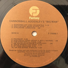 CANNONBALL ADDERLEY:BIG MAN - THE LEGEND OF JOHN HENRY(LABEL SIDE-B)