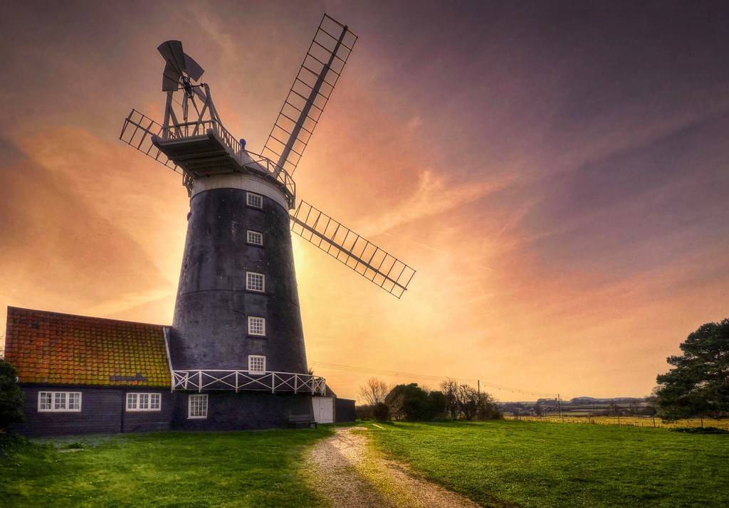 Burnham Overy Staithe Windmill, Norfolk. Credit Baz Richardson, flickr