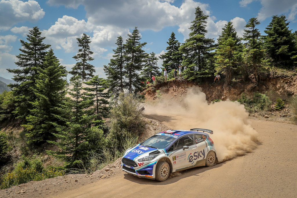 05 HABAJ Lukasz (pol), DYMURSKI Daniel (pol) , RALLY TECHNOLOGY, FORD FIESTA R5, action during the European Rally Championship 2018 - Acropolis Rally Of Grece, June 1 to 3 at Lamia - Photo Alexandre Guillaumot / DPPI