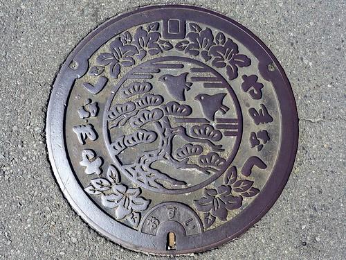 Yamanashi city Yamanashi pref, manhole cover (山梨県山梨市のマンホール)