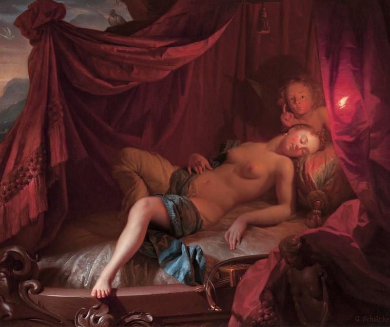 Godfried Schalcken - Sleeping Venus and Cupido