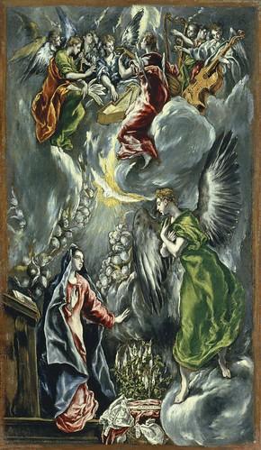 El Greco (Greek, active Spain, 1541-1614), The Annunciation (La Anunciación), ca. 1596-1600