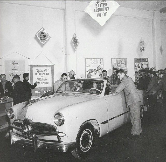 1949 Ford V8 Convertible Showroom Press Photo - USA