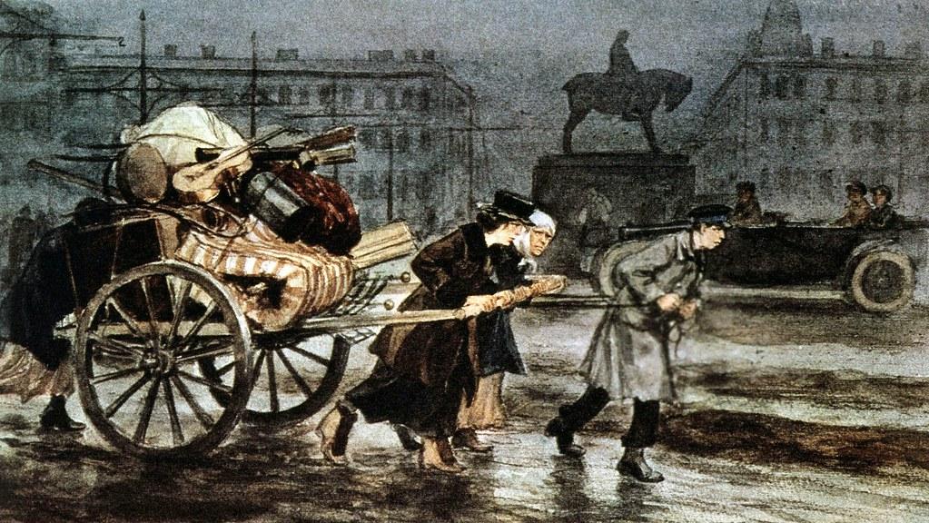 俄国内战与革命的写实绘画17