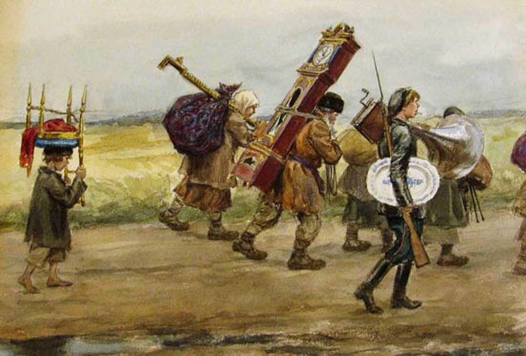 俄国内战与革命的写实绘画06