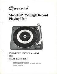 Garrard TechEng Service Manual SP25