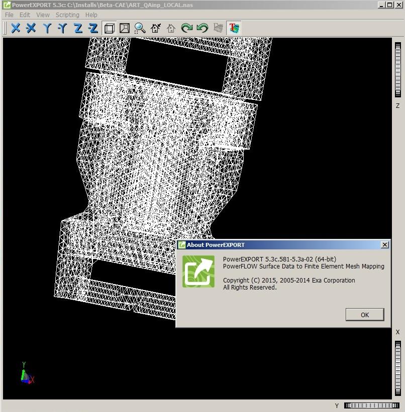 Working with Exa PowerFLOW 5.3c - PowerEXPORT full license