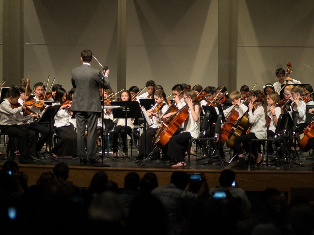 School orchestra concert