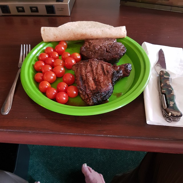 Tue, 05/29/2018 - 16:13 - Leftover ribeye dinner courtesy of Gregg and Lorraine