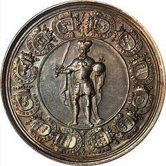 1719 Sede Vacante medal reverse