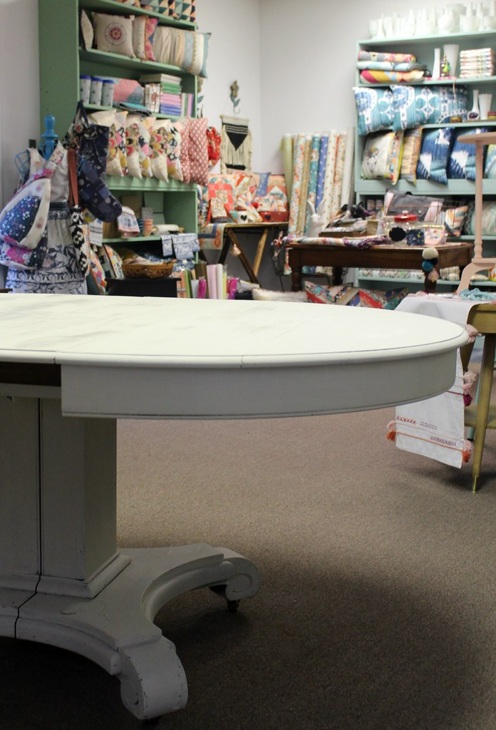 Table in Drop Cloth
