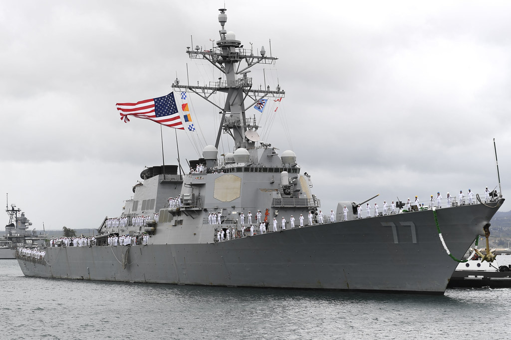 PEARL HARBOR - The guided-missile destroyer USS O'Kane (DDG 77) returned to its homeport, Joint Base Pearl Harbor-Hickam, June 4, after a seven-month Western Pacific deployment.