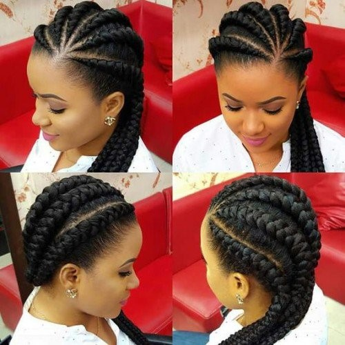 ghana braids are the newest trend in hairstyling.