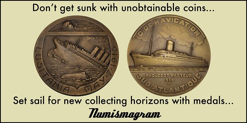 E-Sylum Numismagram ad10 set sail