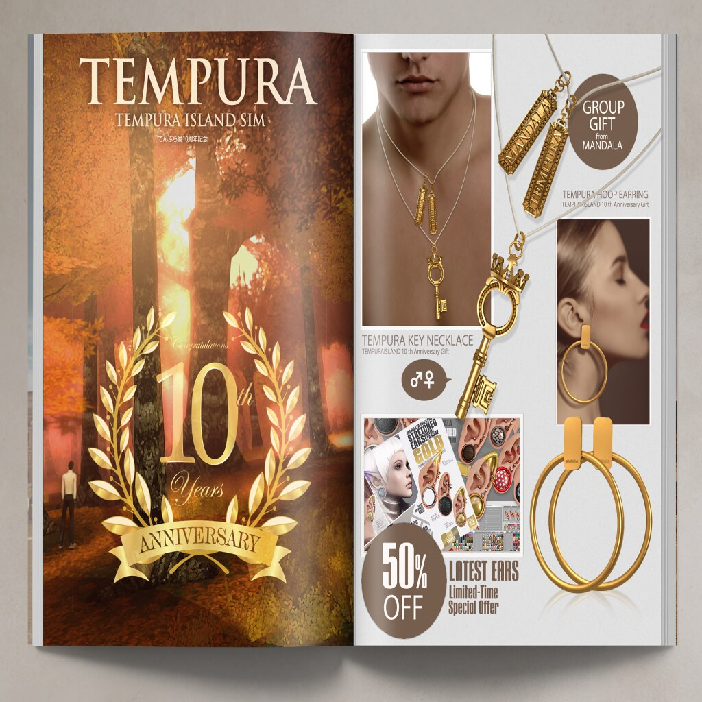 MANDALA group gifts!- Tempura anniversary! - TeleportHub.com Live!