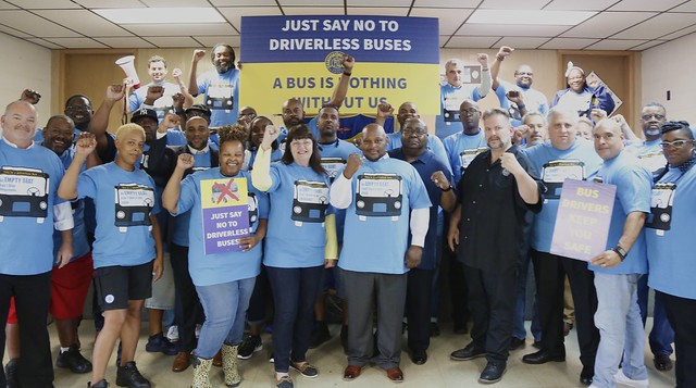 TWU Local 208 Fights Driverless Buses