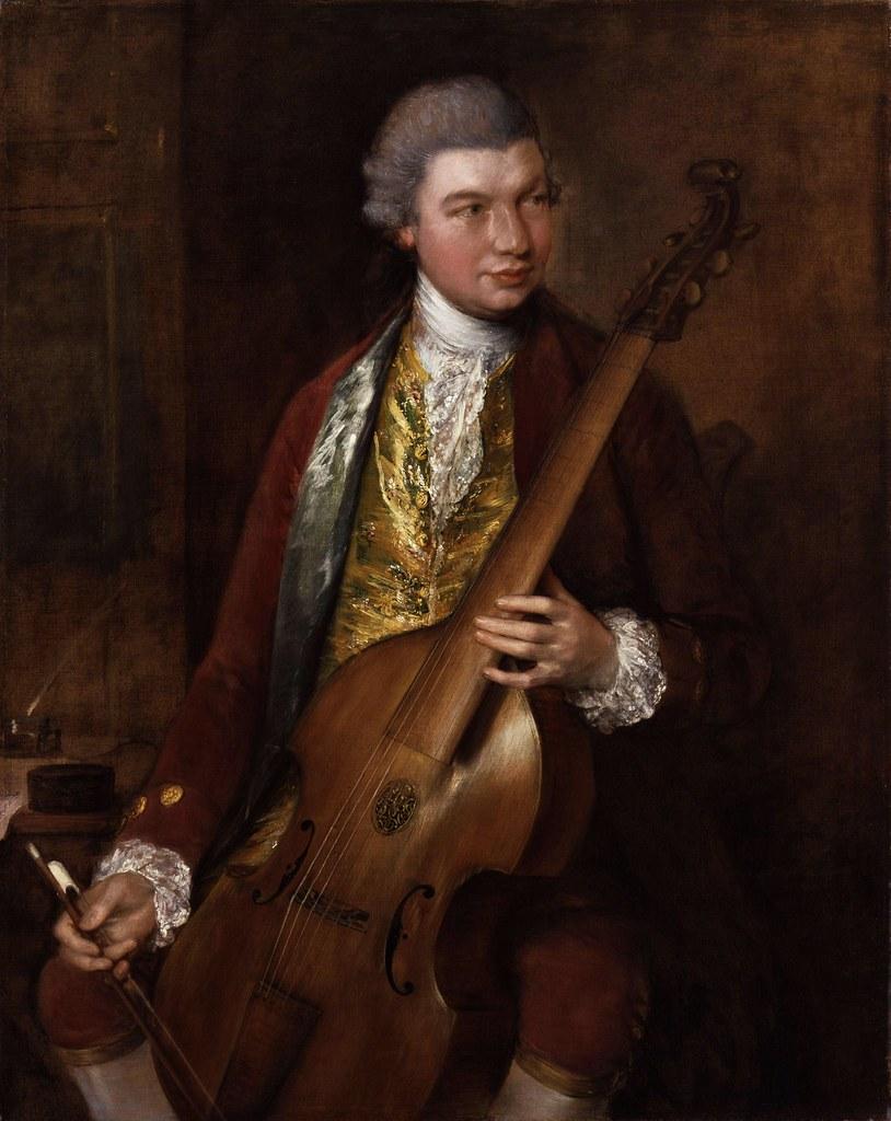 Thomas Gainsborough - Karl Friedrich Abel (c.1765)