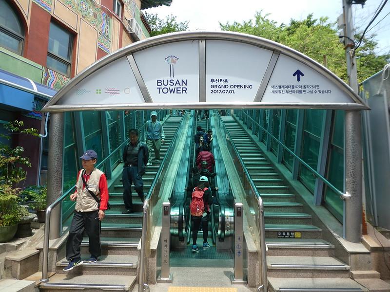 Escalators to Busan Tower, Nampo