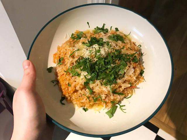 Tomato One Pan Risotto #tomato #risotto #parsley