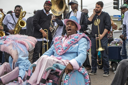 Pigeon Town Steppers second line - April 1, 2018. Photo by Jamell Tate.