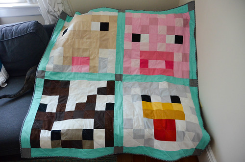 Completed Farm Animal Baby Quilt