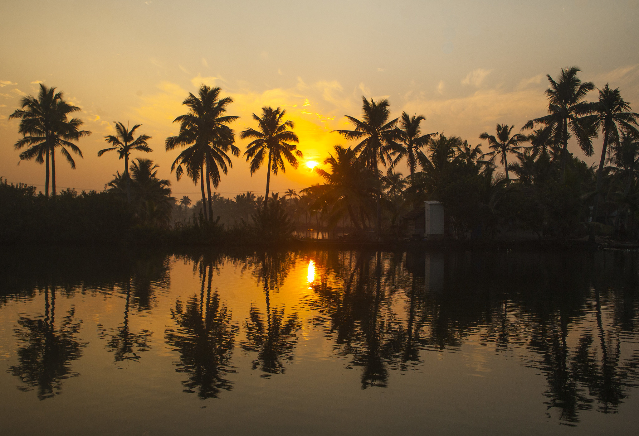 Sunrise, Munroe Island, Kerala, India