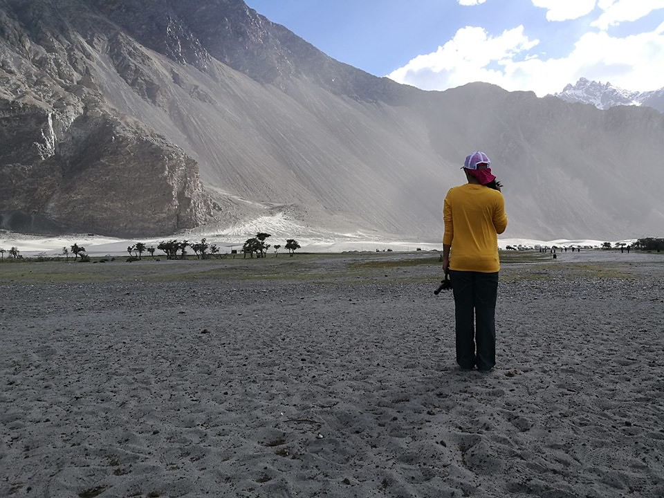 Back on my feet in Nubra Valley two days after Tangtse, Ladakh, India