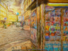 Kiosk - Prague street scene