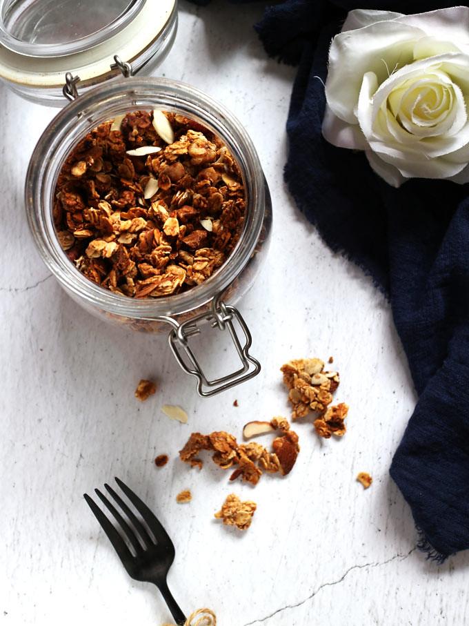 全素香蕉燕麥穀片vegan-banana-bread-granola (2)