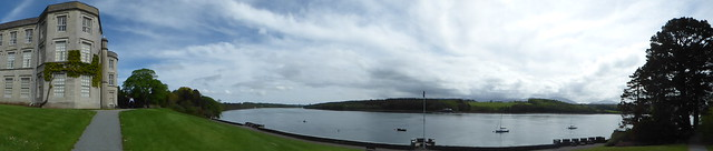 Photo:Menai Strait from Plas Newydd - panoramic By ell brown