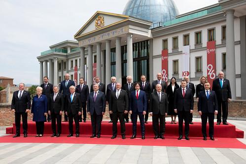 26.05.2018 Ceremonie oficială cu ocazia marcării a 100 de ani de la înființarea primei Republici Democratice Georgiene