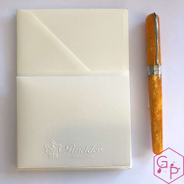 @Pineider Avatar Saffron Fountain Pen Review @GoldspotPens 13
