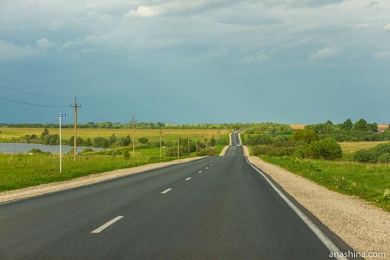 Дорога в сторону Кольчугино