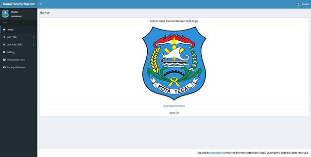 Sistem Dana Transfer Daerah Kota Tegal