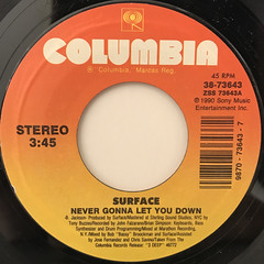 SURFACE:NEVER GONNA LET YOU DOWN(LABEL SIDE-A)