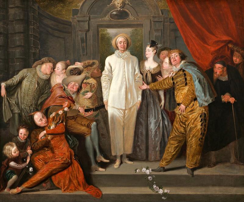 Antoine Watteau - The Italian Comedians (c.1720)